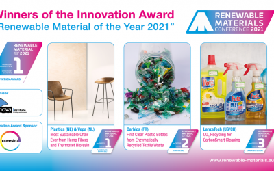 Plantics and Vepa: Renewable Material of the Year 2021